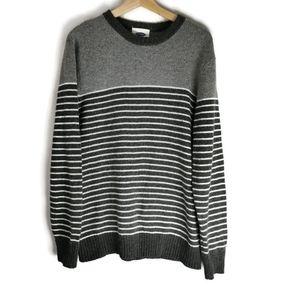 Knit Crewneck Sweater Large Striped